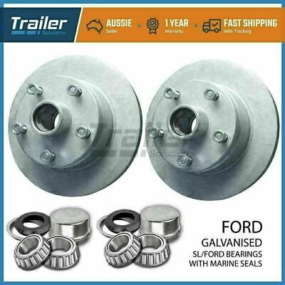 AU127.86 • Buy Trailer Parts Ford Trailer Disc Hubs Pair Galvanised (sl) With Marine Seal