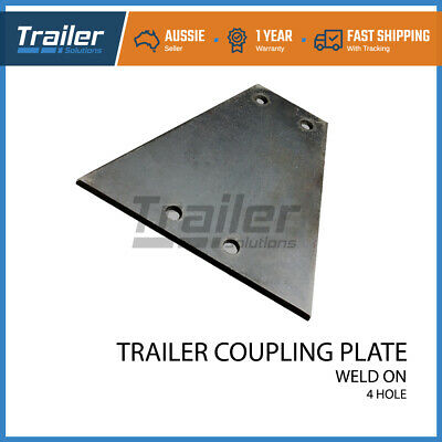 AU20.87 • Buy COUPLING HITCH 4 HOLE WELD ON 8mm MOUNTING PLATE TRAILER CAR