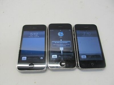 $ CDN88.98 • Buy LOT OF 3 - IPhone 3GS - PLEASE READ DESCRIPTION FOR MODEL NUMBERS & INFO