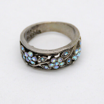$ CDN10.86 • Buy SZ 5 6 7 8 10 11 Lia Sophia Jewelry Vintage Silver Plated Blue Cut Crystals Ring
