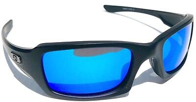bc4bdb7c04 NEW  Oakley FIVES Squared Matte BLACK POLARIZED BLUE   Grey Lens Sunglass  Oo9238 • 96.88