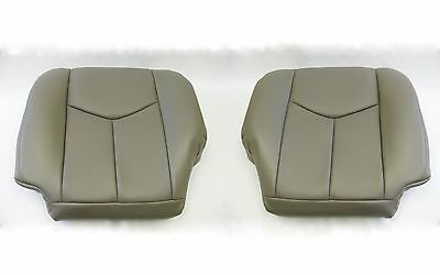 $195.03 • Buy 2003 To 2006 Chevy Silverado Driver & Passenger Bottom Leather Seat Covers Gray
