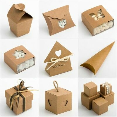 £1.59 • Buy RUSTIC KRAFT Favour Boxes DIY Wedding Natural Vintage Shabby Chic - BOX ONLY