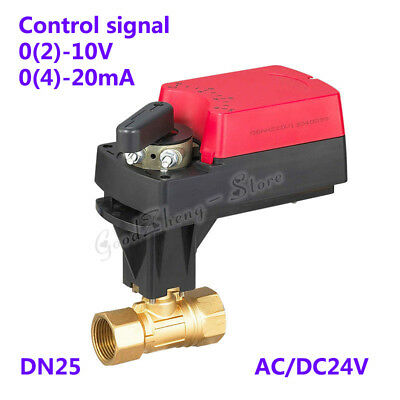 AU219.26 • Buy 2 Way Proportional Motorized Valve DN25 G1  6Nm Control Electric For AC/DC24V
