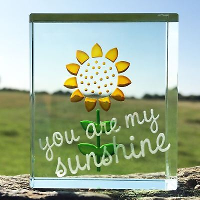 Spaceform Glass Sunflower You Are My Sunshine Gift Positive Love Valentines Day • 22.95£