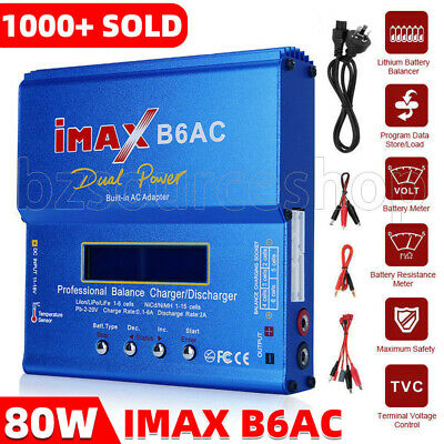 AU43.65 • Buy IMax B6AC 80W RC Lipo Lithium NiMh Battery Balance Charger Discharger AC Digital