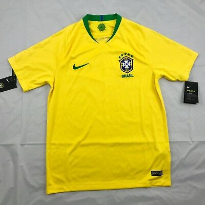 c1e56f58ebd Nike 2018 World Cup Brazil Brasil Home Soccer Jersey Yellow 893856-749 Men's  S-L •