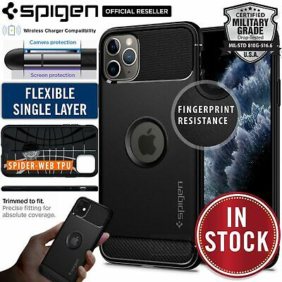AU17.99 • Buy Genuine SPIGEN Rugged Armor SOFT Cover For Apple IPhone 11 Pro XS Max X XR Case