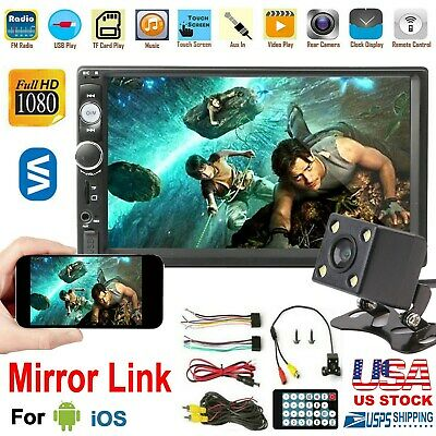 $ CDN54.03 • Buy 7 Inch Double 2 DIN Car MP5 Player Wireless Touch Screen Stereo Radio W/Camera