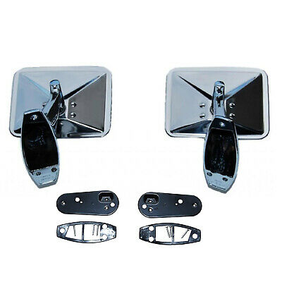 $89.95 • Buy 70 71 72 Chevy Truck Square Rectangle Chrome Outside Rearview Door Mirrors Pair