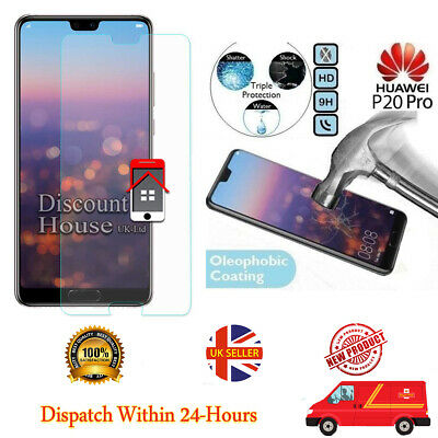 Genuine Tempered Glass Screen Protector For Huawei P20 Pro • 2.99£