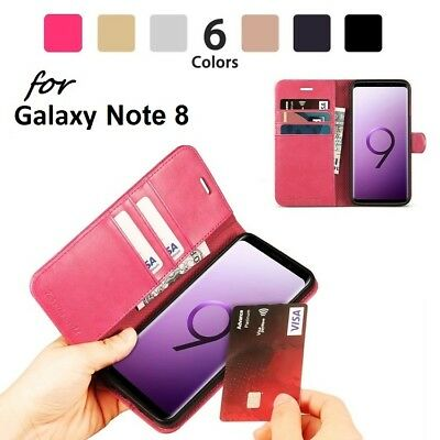 $ CDN2.75 • Buy NEW Luxury Magnetic Leather Flip Case Wallet Cover For Samsung Galaxy Note 8
