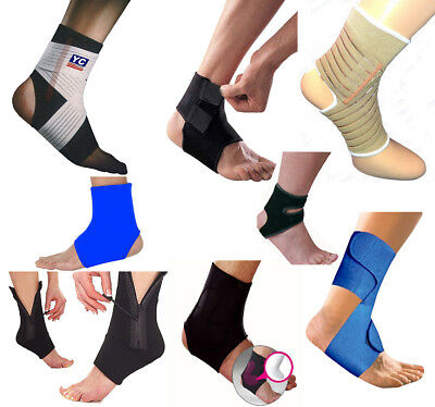 Breathable Ankle Support Strap Sleeve Sports Running Weak Joint Injury Elastic • 3.98£