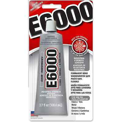 E6000 Huge 3.7 Oz 110ml ADHESIVE GLUE JEWELRY Huge Big BOOKING CRAFT Big Glue • 10.24£