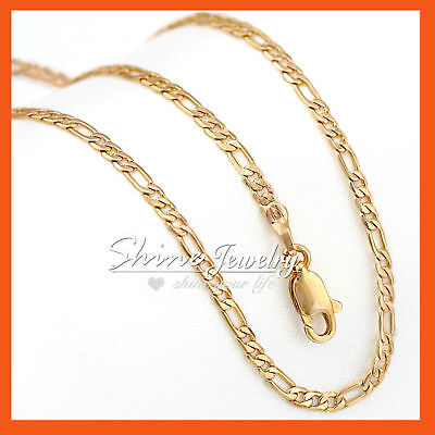 AU6.99 • Buy MENS WOMENS KIDS GOLD GF SOLID FIGARO CURB CHAIN MULTI LONG NECKLACE For PENDANT