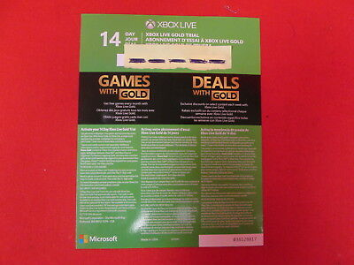 $6.86 • Buy Xbox Live Gold 14 Day Trial New For Xbox One S Console 2016 Release 9827