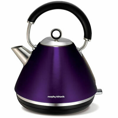 AU83.25 • Buy 1.5L Morphy Richards Accents Plum Traditional Pyramid Cordless Kettle 102020