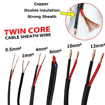 AU31.34 • Buy Dual 2 Sheath Twin Core Wire 1  2.5 4 6mm Caravan Truck Extension Cable 9-20AWG