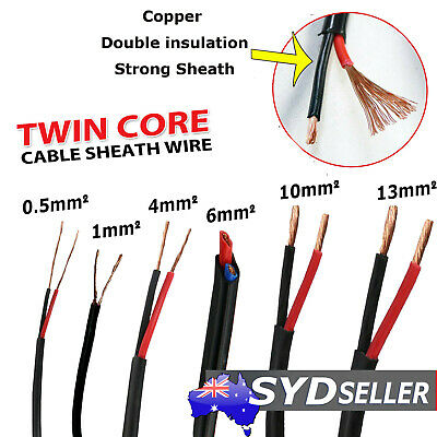 AU21.61 • Buy Dual 2 Sheath Twin Core Wire 1  2.5 4 6mm Caravan Truck Extension Cable 9-20AWG