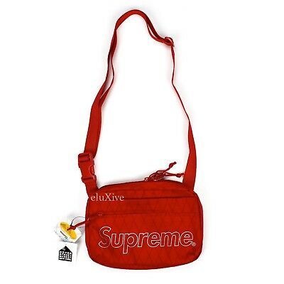 $ CDN253.96 • Buy NWT Supreme NY Red Reflective Box Logo Print Small Shoulder Bag FW18 AUTHENTIC