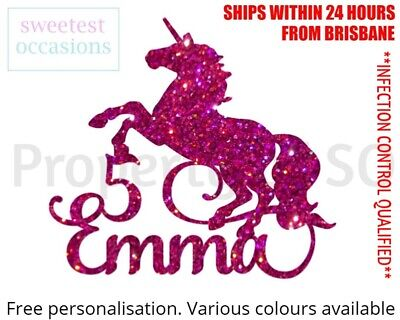 AU11 • Buy Personalised Custom UNICORN Birthday Cake Topper