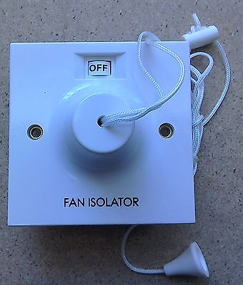 £14.99 • Buy Bargain Fan Isolator Ceiling Pull Cord Switch 3 Pole BG804 AND BACK BOX