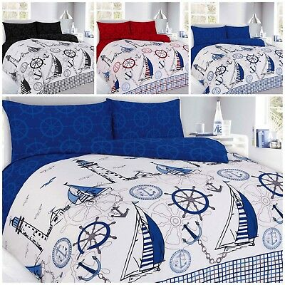 Modern Sailing Jake Nautical Print Design Duvet/quilt Cover Pillowcases Bedding • 12.75£