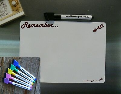 AU12.95 • Buy A5 Whiteboard +5pens Family Office Reminder Memo Notes Messages Fridge Magnet