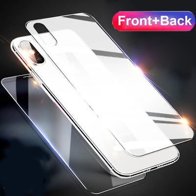 AU2.57 • Buy For Apple IPhone XS Max XR Front And Back 9H Tempered Glass Screen Protector #