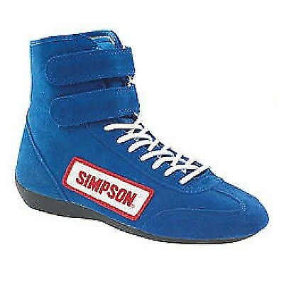 $99.95 • Buy Simpson Safety 28900BL Blue High Top Race Driving Shoes SFI And FIA Rated Size 9