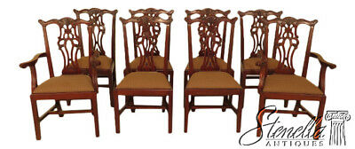 $3295 • Buy L45864EC: Set Of 8 EJ VICTOR Chippendale Mahogany Dining Room Chairs
