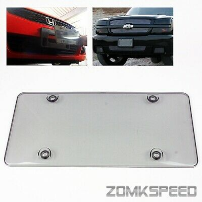 $4.50 • Buy 1PC Clear Smoke Tinted Front Or Rear License Plate Frame Cover Shield Protector