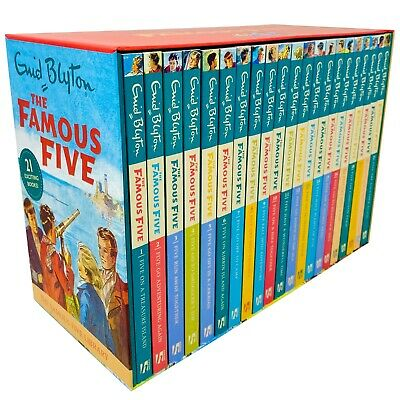 The Famous Five Library Books 1 - 21 Collection Box Set By Enid Blyton • 28.69£