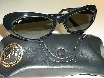 $175.99 • Buy Vintage B&l Ray Ban W2522 Glossy Black G15 Sleek Cats Eye Rituals Sunglasses New