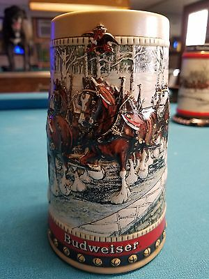 $ CDN22.02 • Buy 1988  Anheuser Busch  AB  Budweiser Bud Holiday Christmas Beer Stein Clydesdales