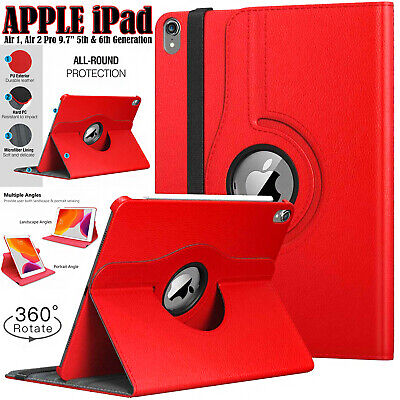 £6.24 • Buy Apple IPad 10.2  Pro 9.7 ,10.5  Air 1/2/3 Tablets Leather Smart 360 Case Cover