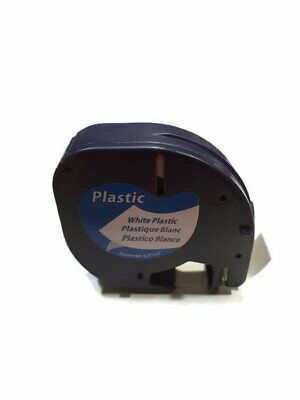 AU9.99 • Buy Compatible With DYMO LetraTag Plastic Label Tape 12mm Black On White 91201
