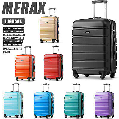 Hard Shell Trolley Suitcase 4 Wheel Lightweight Spinner Luggage Travel Case • 17.99£