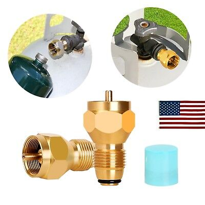 $7.99 • Buy Propane Refill Adapter Gas Cylinder Tank Coupler Heater For Camping Cooking BBQ