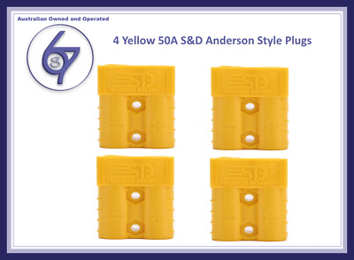 AU13.25 • Buy 4 X Yellow Anderson Plugs 50 Amp Premium Heavy Duty