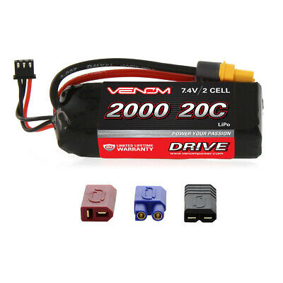 $ CDN39.53 • Buy Venom 20C 2S 2000mAh 7.4V RC LiPo Battery With Deans EC3 Traxxas UNI Plug