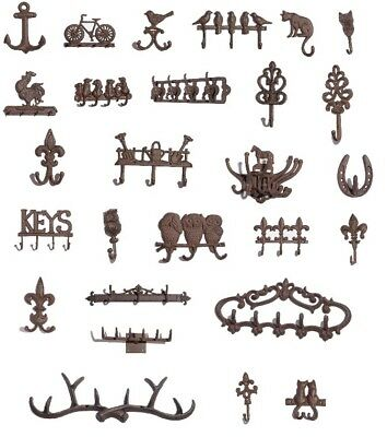 Cast Iron Hooks - Antique Looking - Various Designs To Choose From - UK Seller • 9.99£