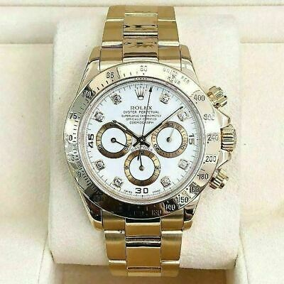 $ CDN41541.02 • Buy Rolex Daytona Ref 16528 A Serial Factory Diamond Dial ZENITH MOVEMENT 18K