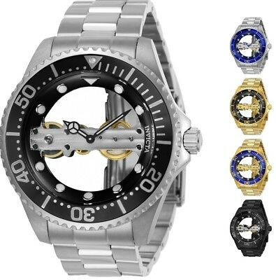 9bfdcefe1 Invicta Men's Pro Diver Bridge Mechanical Skeleton 47mm Watch - Choice Of  Color • 82.79$