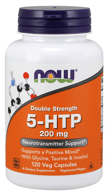 AU39.66 • Buy  NOW® 5-HTP, 200 Mg, 120 Veg Caps, Neurotransmitter Support