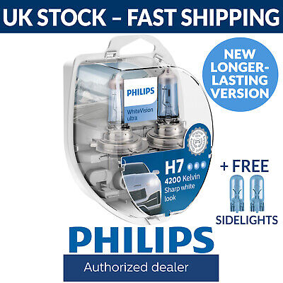 £21.99 • Buy Philips WhiteVision Ultra H7 Car Headlight Bulbs H7 (Twin Pack) White Vision
