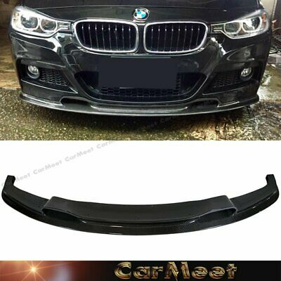 AU586.97 • Buy Carbon Fiber Front Lip VR Look For 12-16 F30 F31 3-SERIES Factory M-Sport Bumper