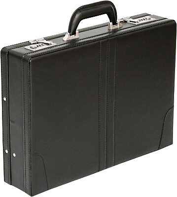 New Executive Doctor Attache Briefcase Pu Leather Case Expanding Business Bag UK • 22.99£