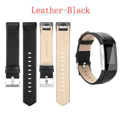 $ CDN12.78 • Buy For Fitbit Charge 2 Wrist Strap Watch Band Leather Replacement Wristband Black