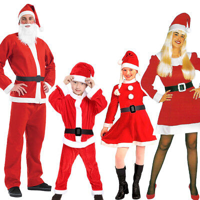 Santa Claus Costume Father Christmas Fancy Dress Budget Outfit Suit Adult Kids  • 4.95£